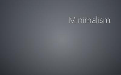 Minimalism on gray blur Wallpaper