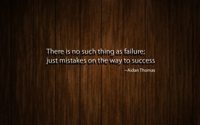 No failure, just mistakes on the way to success wallpaper