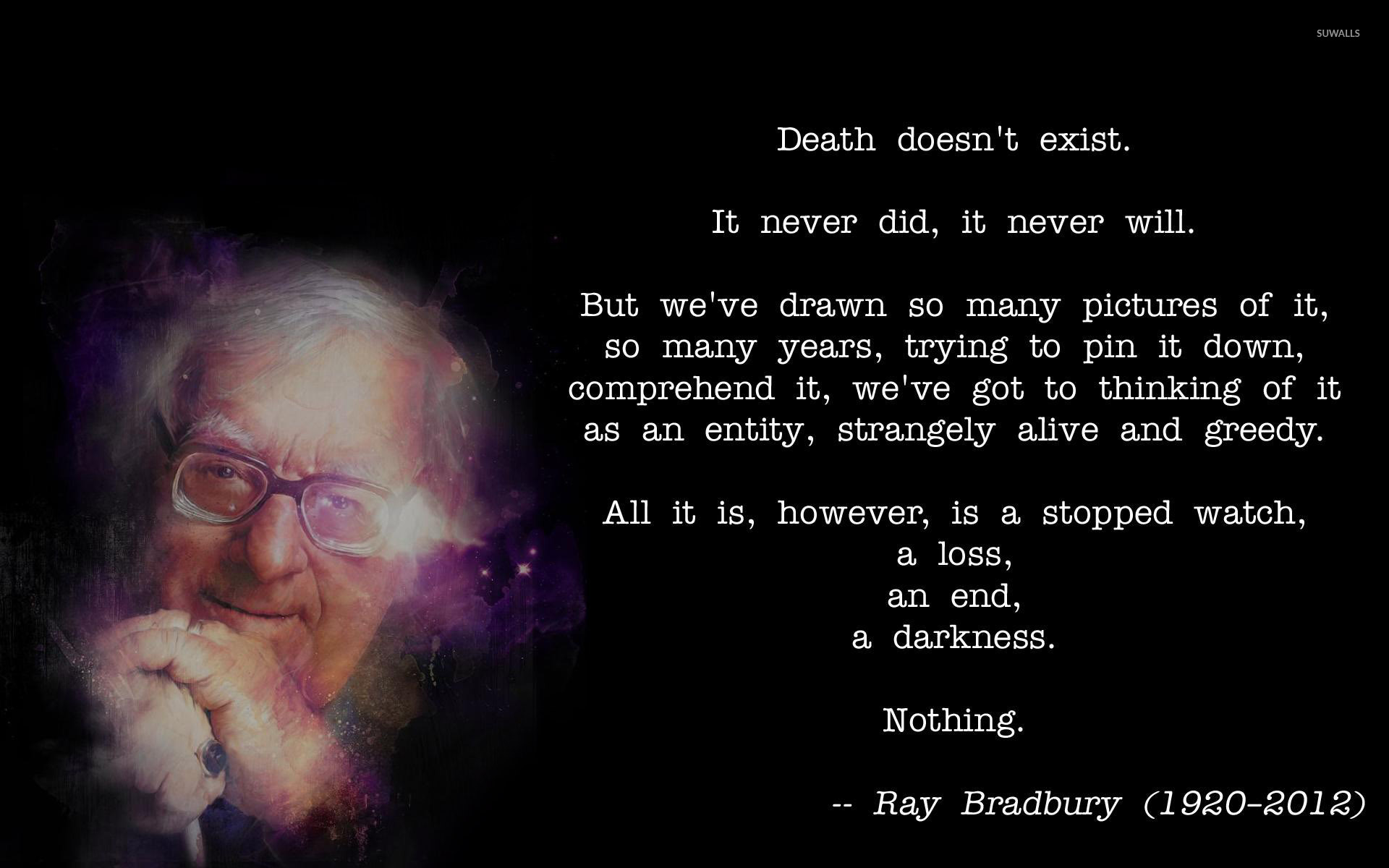 Ray Bradbury about wallpaper Quote wallpapers