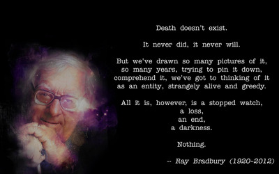 Ray Bradbury about death wallpaper