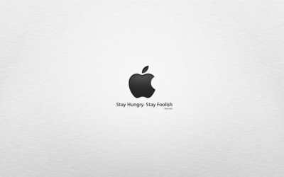 Stay hungry, stay foolish wallpaper
