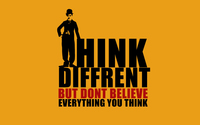 Think different but don't believe everything you think wallpaper 1920x1080 jpg