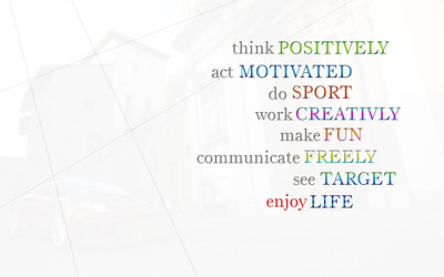 Think positively and enjoy life wallpaper