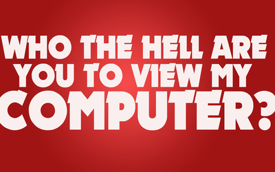 Who are you to view my computer wallpaper