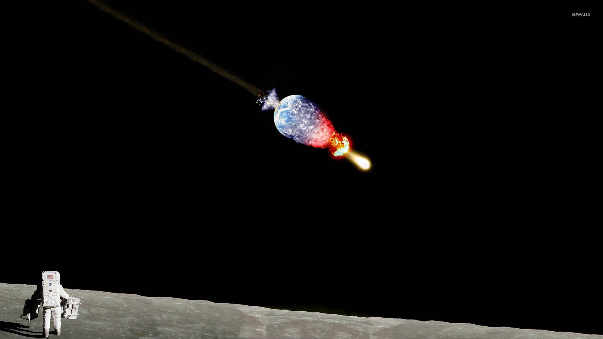 astronaut on moon wallpaper - photo #12