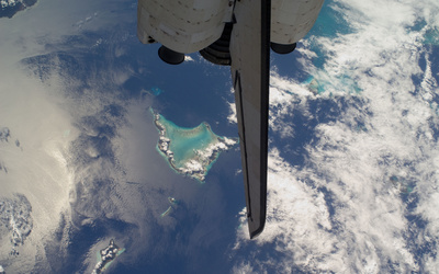 Bahamas islands from space wallpaper