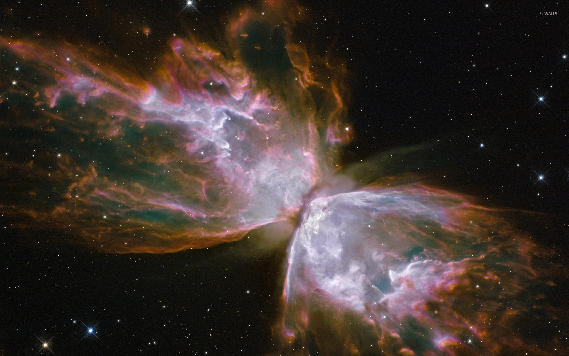 Bipolar planetary nebula NGC 6302 wallpaper - Space ...  Real