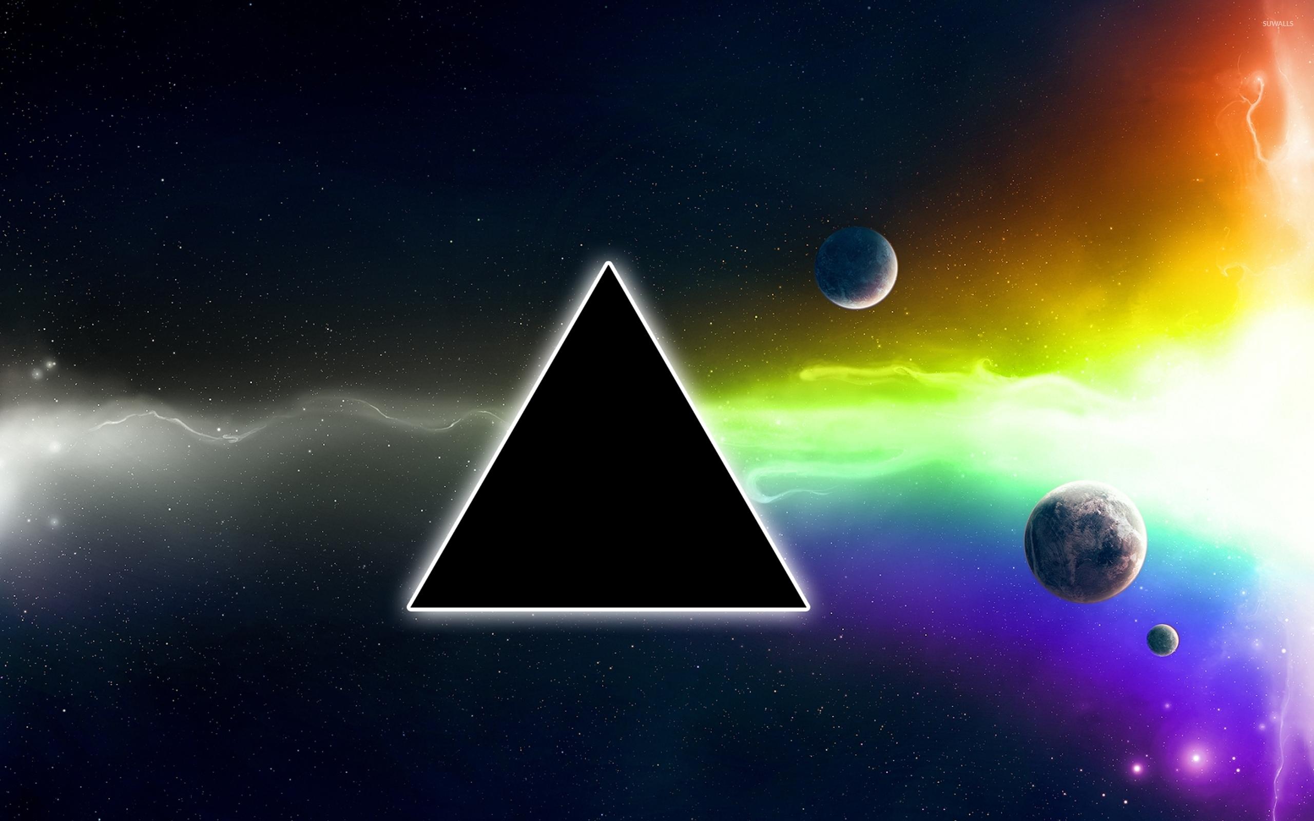 Black Square In The Galaxy Wallpaper