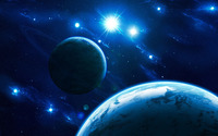 Blue lights in space wallpaper 2880x1800 jpg