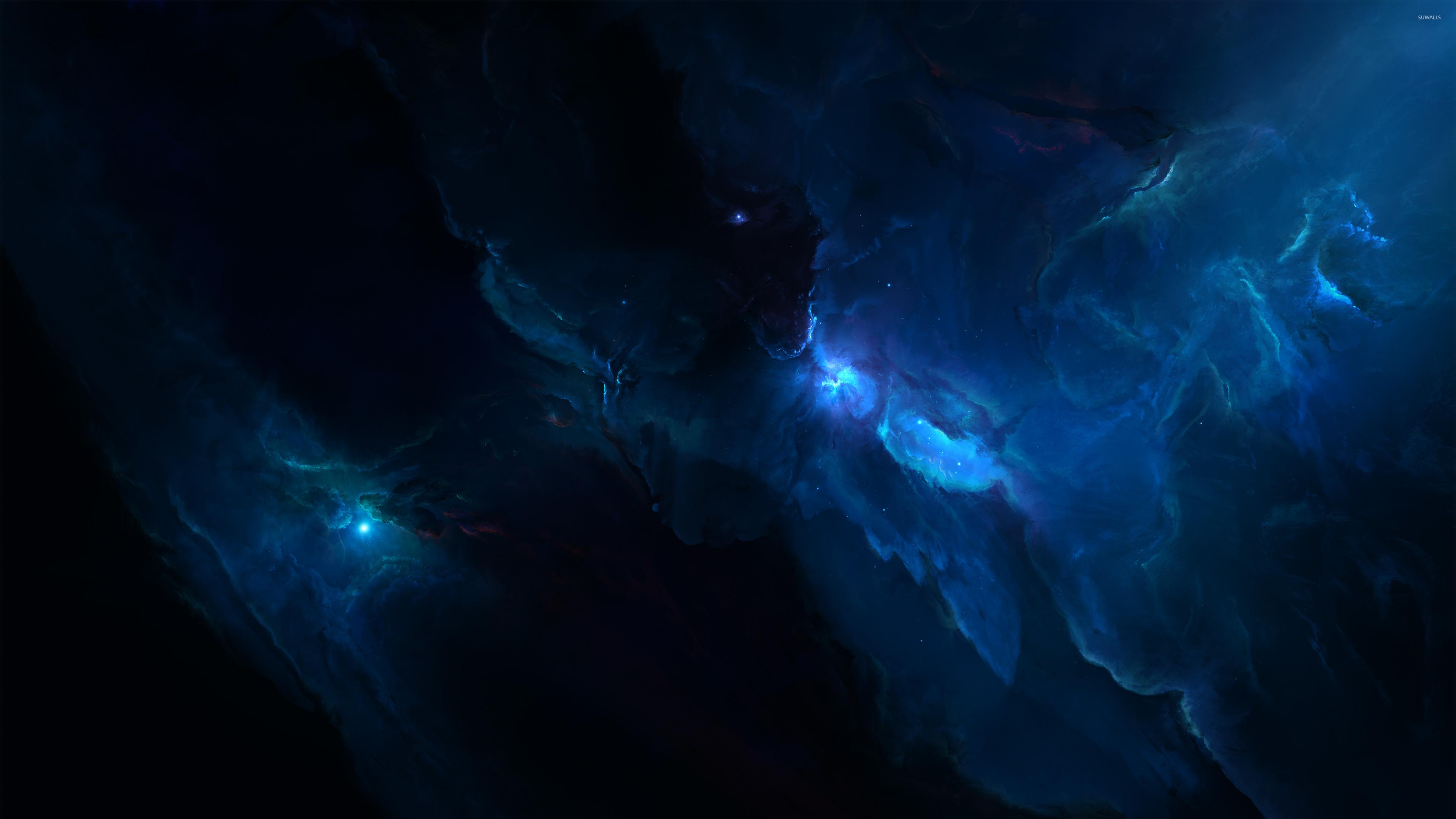 Blue nebula [2] wallpaper - Space wallpapers - #37911 Blue Nebula Wallpaper Widescreen