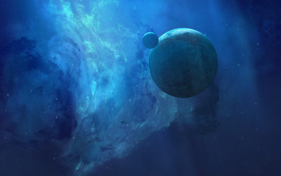 Blue universe wallpaper