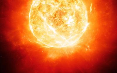 Burning sun wallpaper