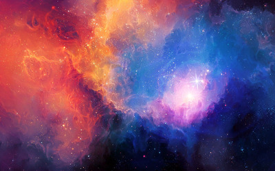 Colorful nebula wallpaper