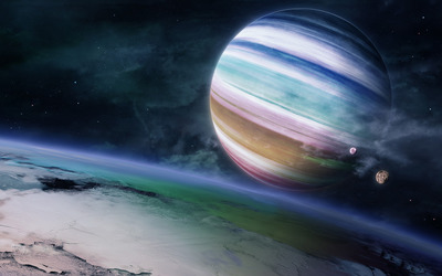 Colorful planet wallpaper