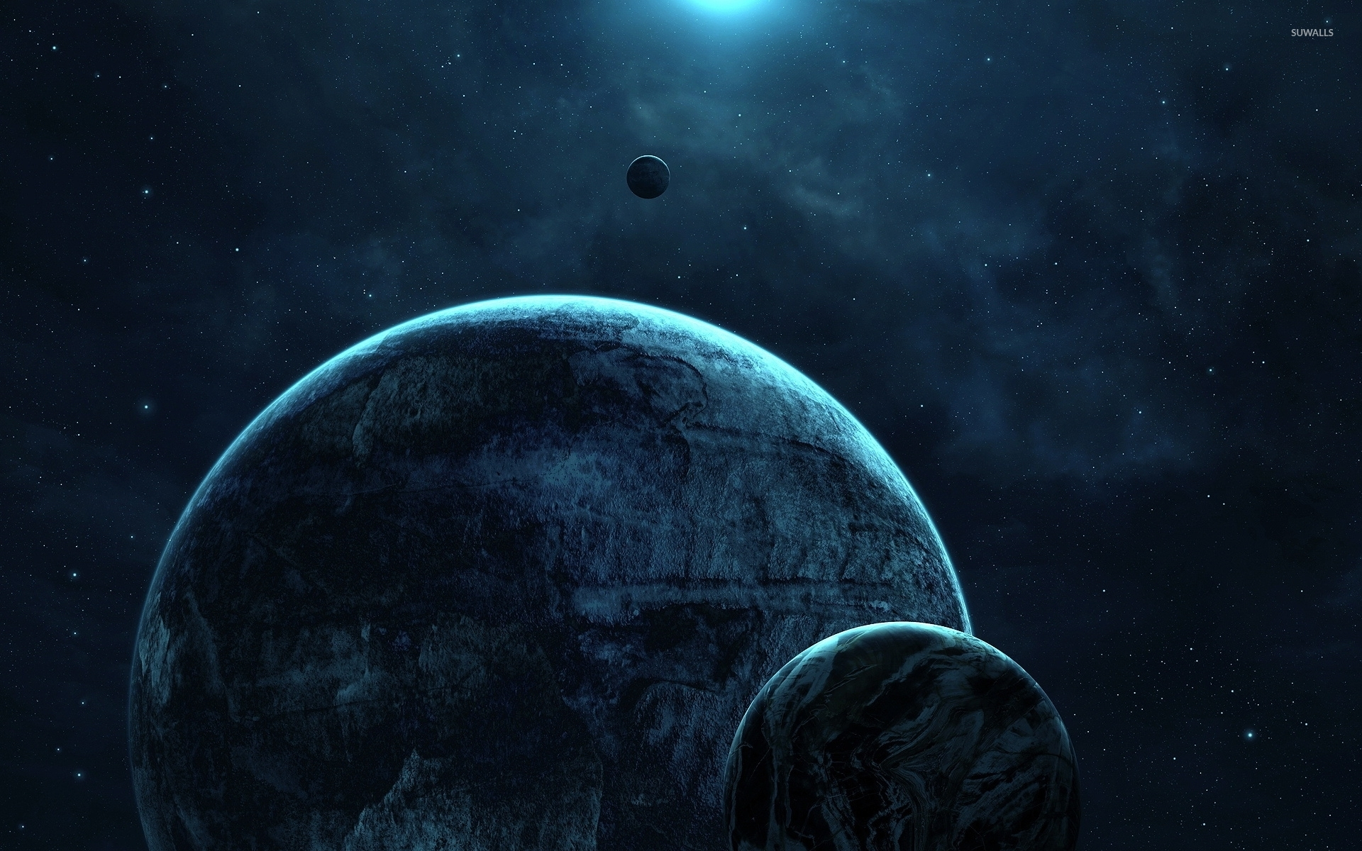 Dark Planets Wallpaper