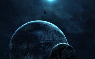 Dark planets wallpaper