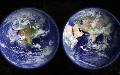 Different sides of the Earth wallpaper