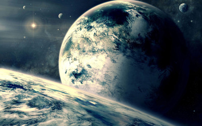 Earth and planets wallpaper