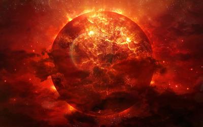 Exploding planet [7] wallpaper