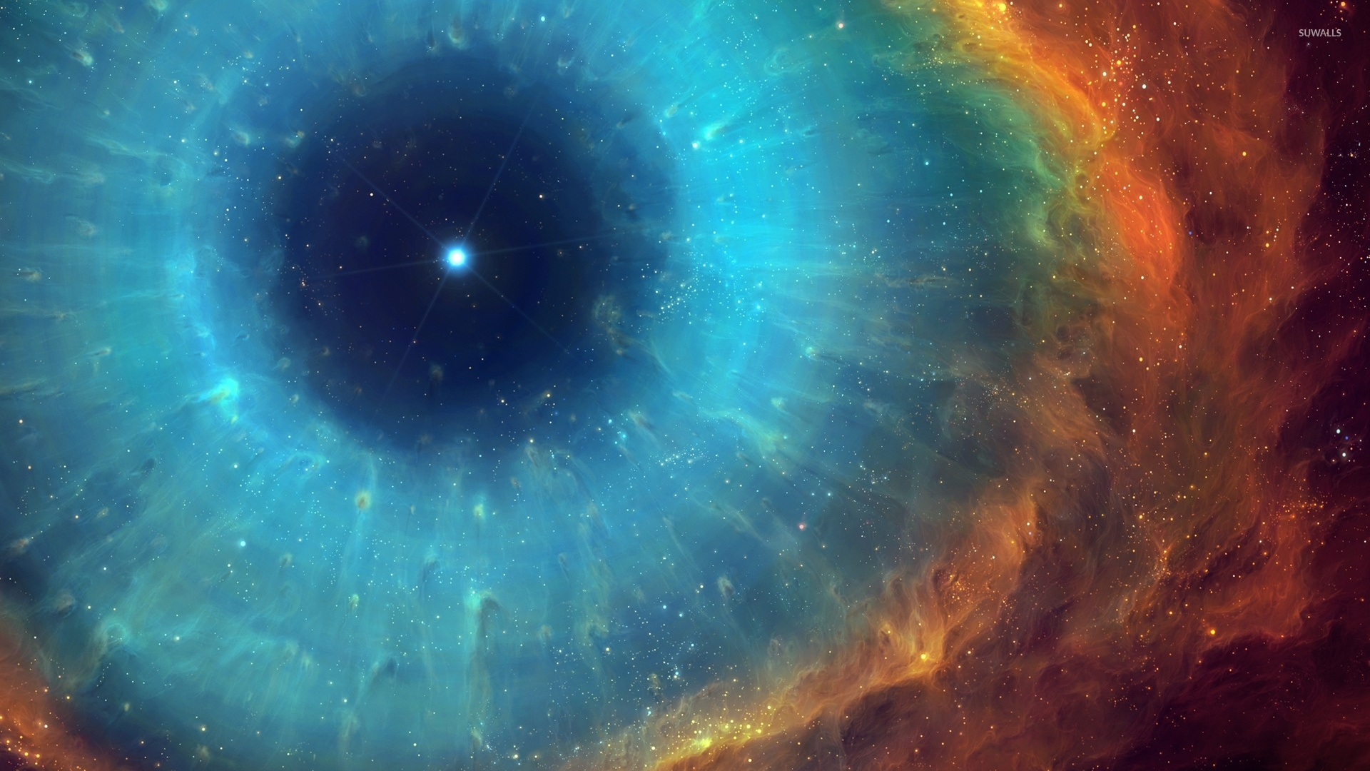 Eye Of God Helix Nebula Wallpaper