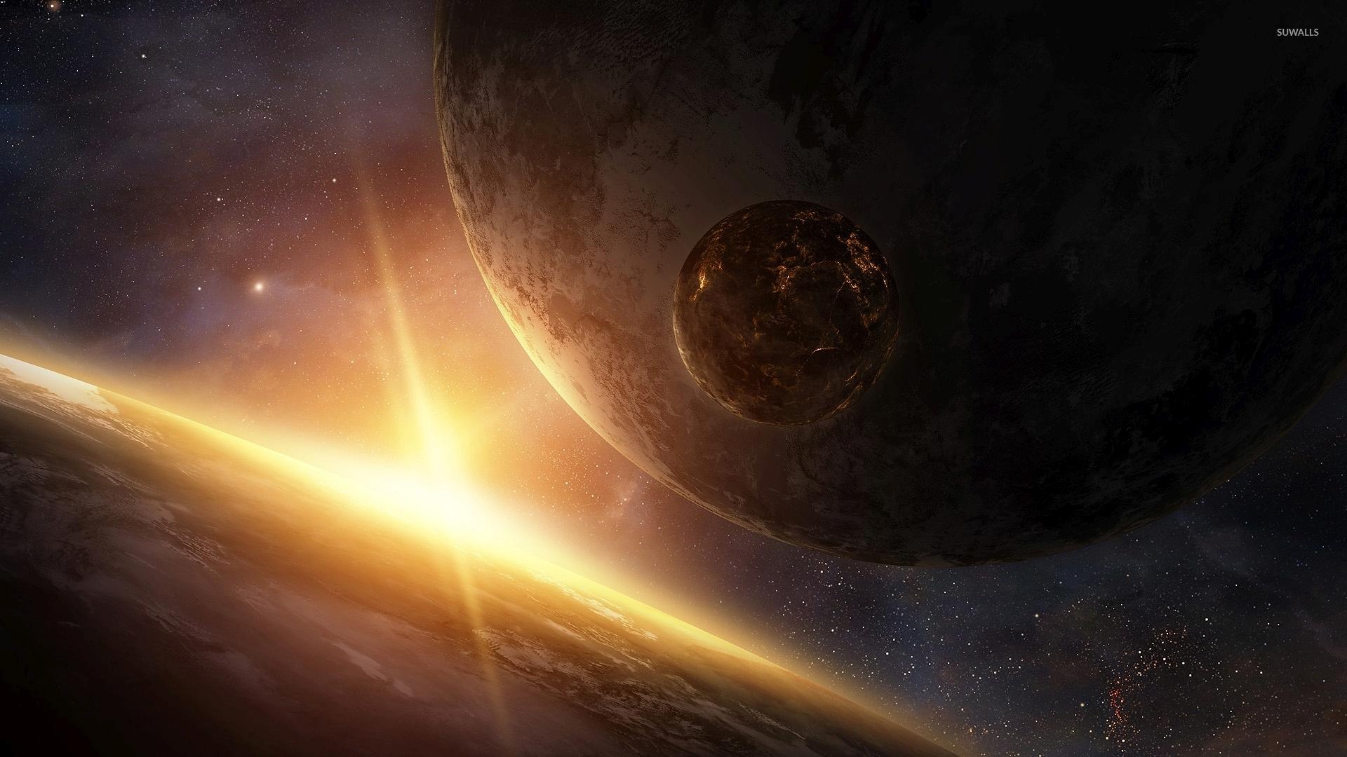 fire planet space wallpaper - photo #11
