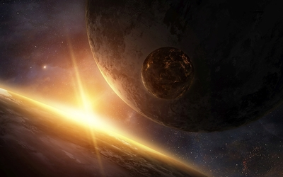 Fire on the small planet wallpaper