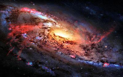 Firey galaxy wallpaper