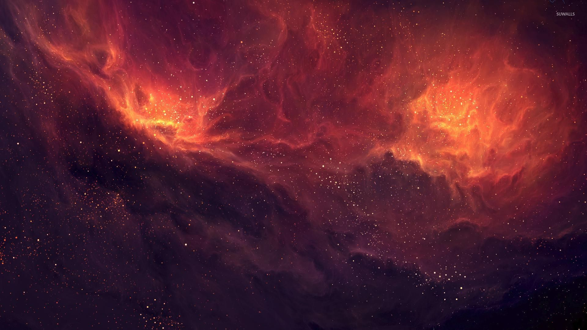 Firey Nebula Wallpaper Space 1920x1080 Jpg