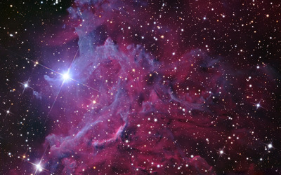 Flaming Star Nebula wallpaper