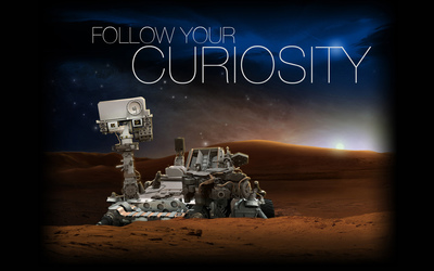 Follow your curiosity wallpaper
