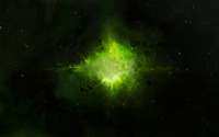 Green explosion in space wallpaper 2560x1600 jpg