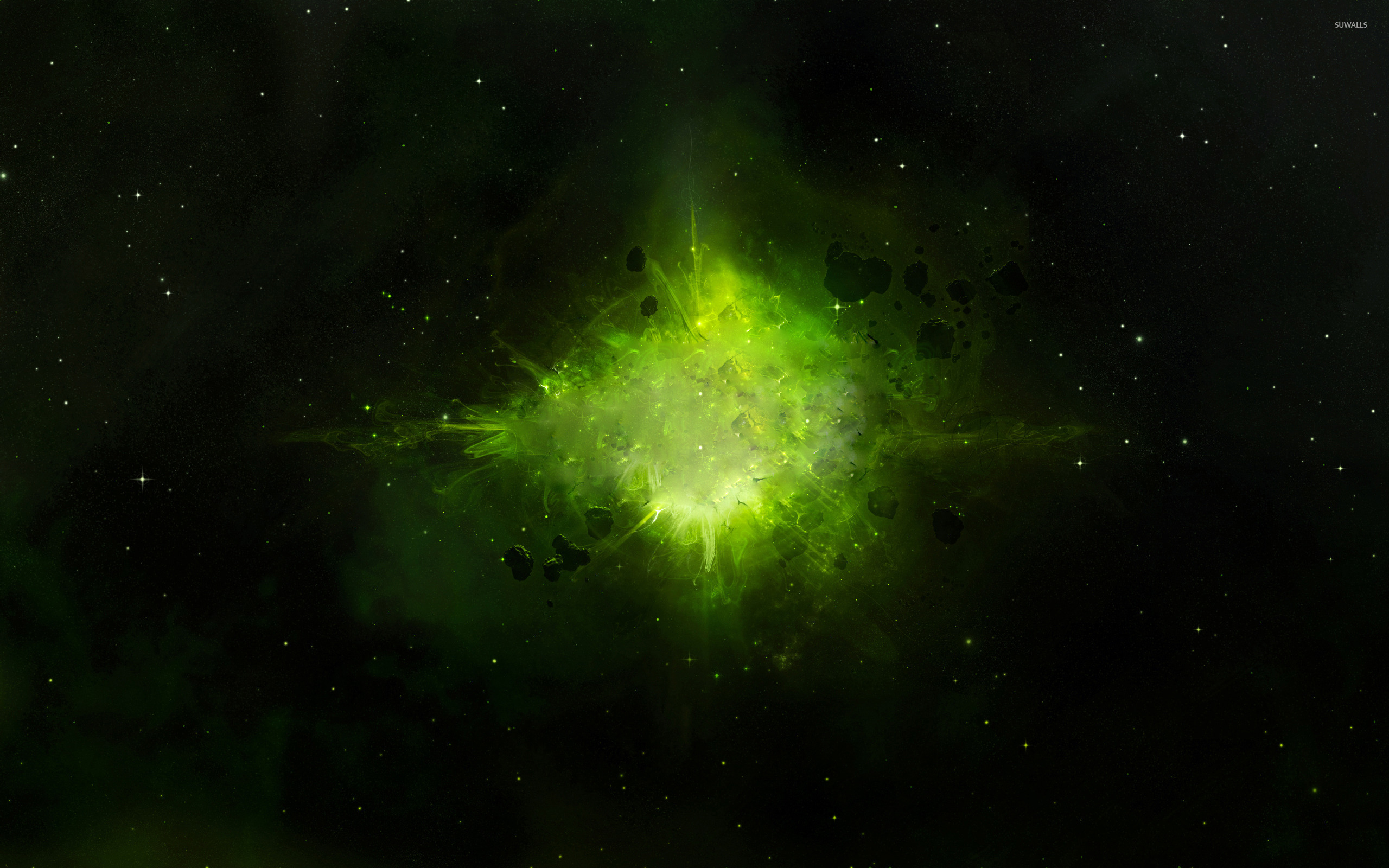 Green Explosion In Space Wallpaper Space Wallpapers 43181