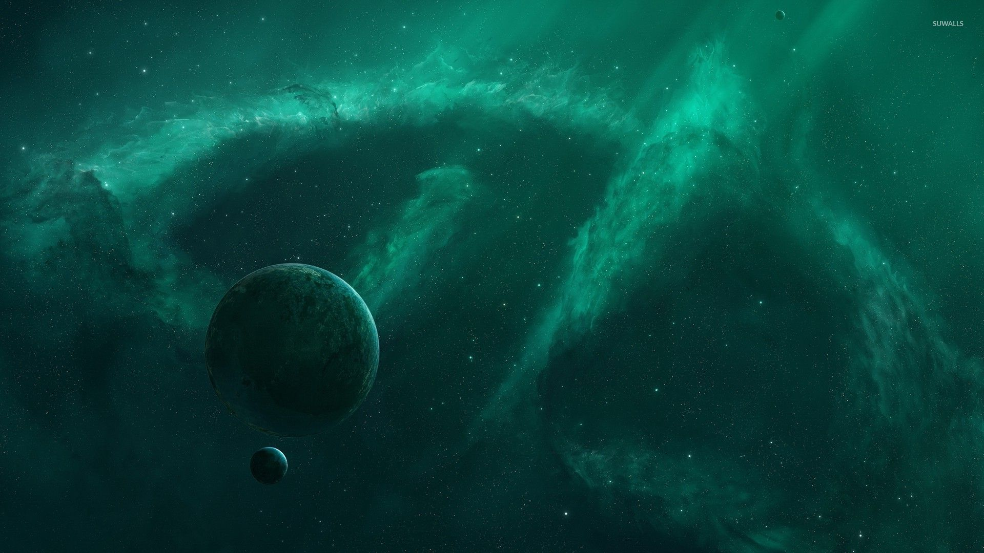 astronomy blue and green backgrounds - photo #6