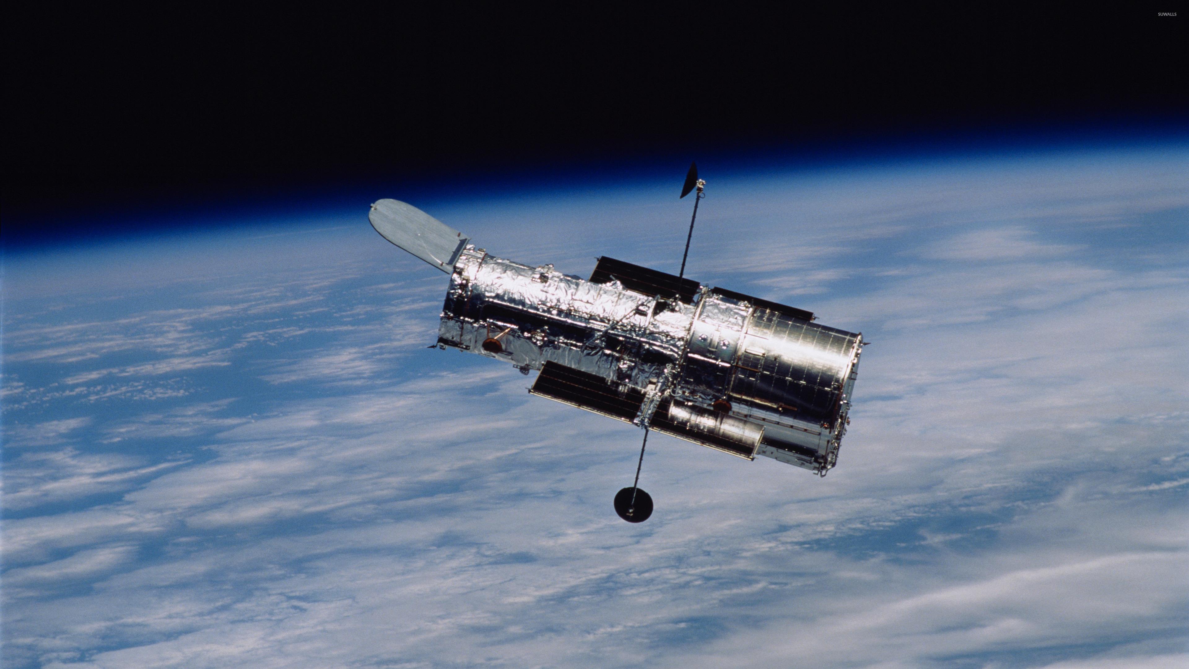 Hubble Space Telescope In Orbit Wallpaper