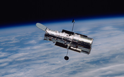 Hubble Space Telescope in orbit wallpaper