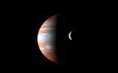 Jupiter and Io wallpaper