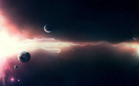 Nebula and planets [3] wallpaper 1920x1200 jpg