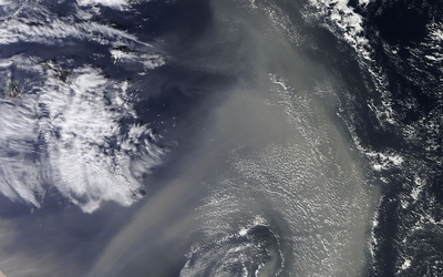 Ocean view from the satellite wallpaper