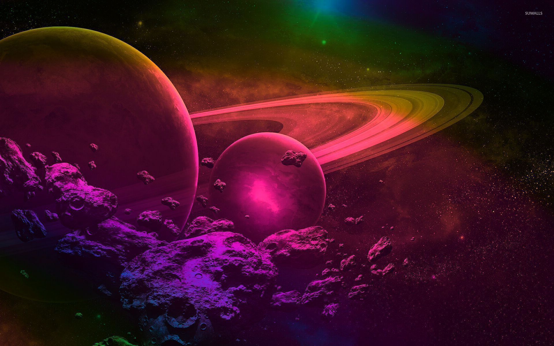 Pink And Purple Space Wallpaper