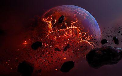 Planet exploding wallpaper