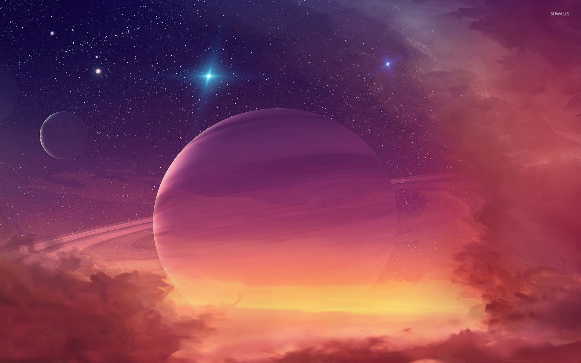 Planet in the clouds wallpaper space wallpapers 32662 for Wallpaper photo