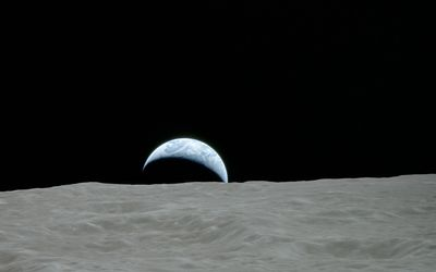 Planet seen from the moon wallpaper
