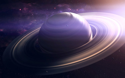 Planet with rings wallpaper