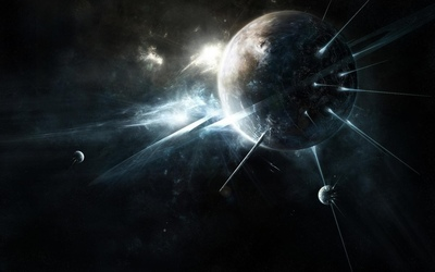 Planet with thorns wallpaper