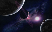 Purple rings of the planet wallpaper 1920x1200 jpg