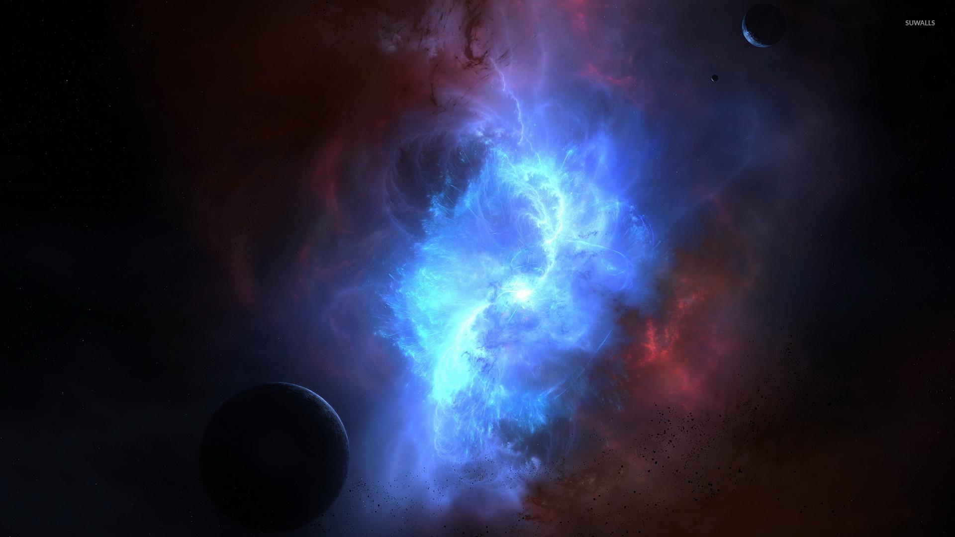blue and red pheonix nebula - photo #15