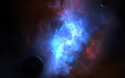Red and blue nebula [2] wallpaper