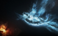 Red and blue nebulas wallpaper 1920x1080 jpg