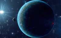 Red and blue planet wallpaper 2560x1600 jpg