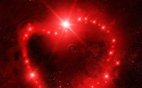 Red heart in space wallpaper 1920x1080 jpg